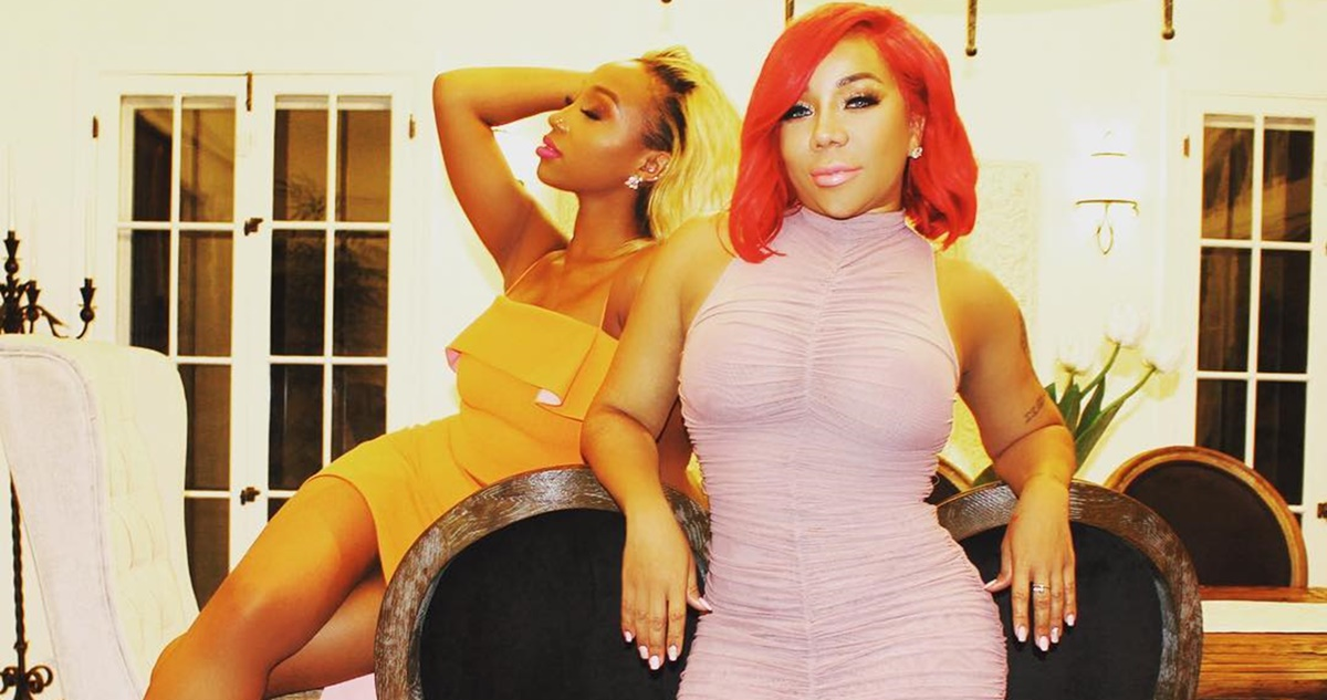 Zonnique Pullins Tameka 'Tiny' Harris New Red Hairdo